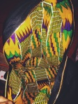 Urban and Tribal fusion. Kente cloth lined backpack
